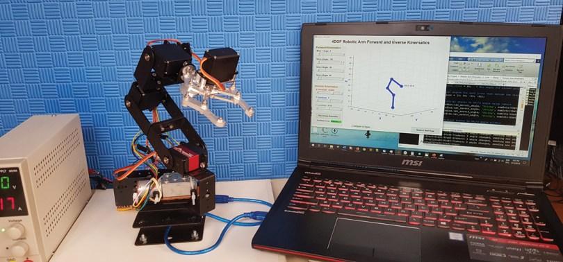 4-DOF Robotik Kol Yapın
