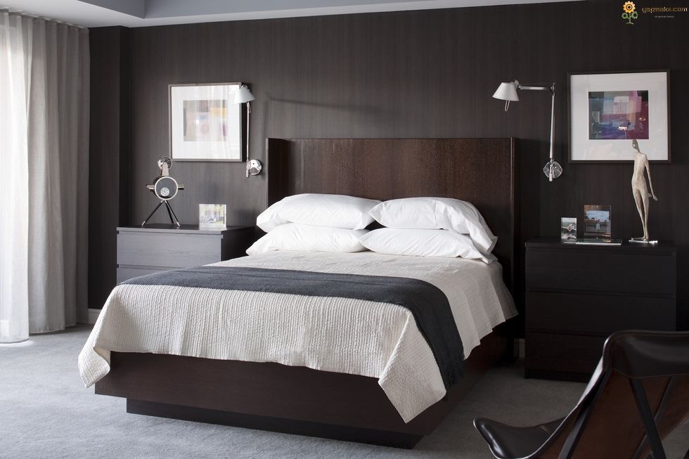 Siyah Beyaz Yatak Odası